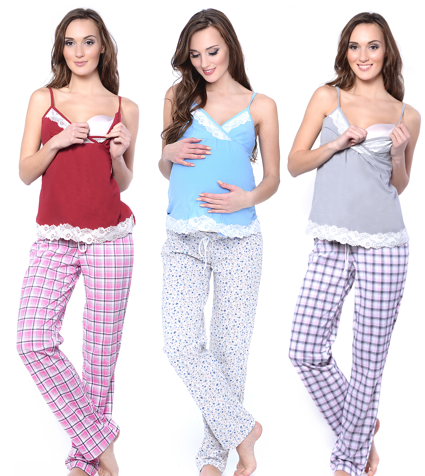 MijaCulture 3 in1 Stillpyjama Stillschlafanzug Umstandspyjama Pyjama 4119