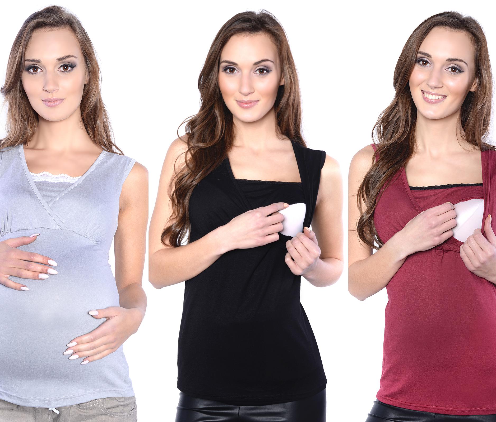 2in 1 Stilltop Umstandstop//Stillshirt /& Umstandsshirt 3093 MijaCulture Umstandsmode