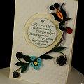 kartka #kaszubska #ślub # quilling